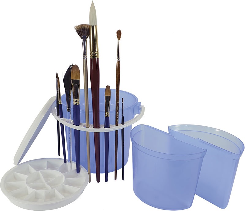 Brush Wash Bucket With Removable Inner Basins