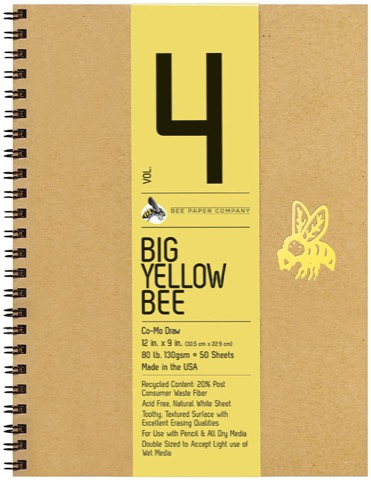 Big Yellow Bee Como Drawing Journals