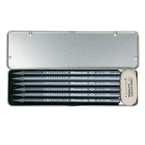 Monolith Graphite 6-Piece Set & Eraser
