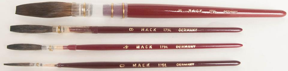 Series 179 Brown Kazan Lettering Quills