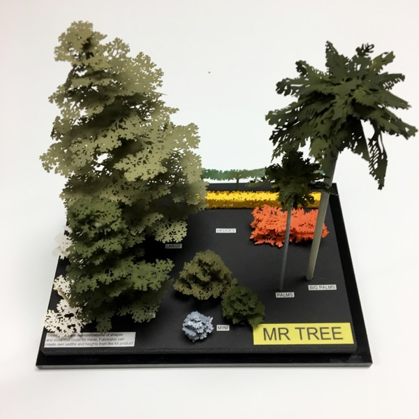 Laser-Cut Model Trees by Mr  Tree - Raw Materials Art Supplies