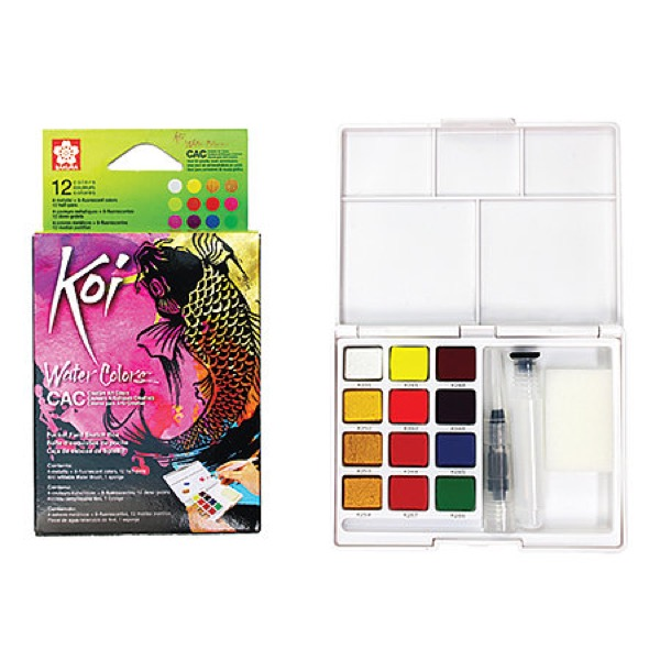 Koi Creative Art Colors (CAC) Watercolor Sets