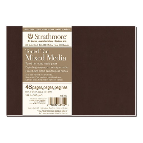 Softcover Toned Mixed Media Art Books (Series 400)