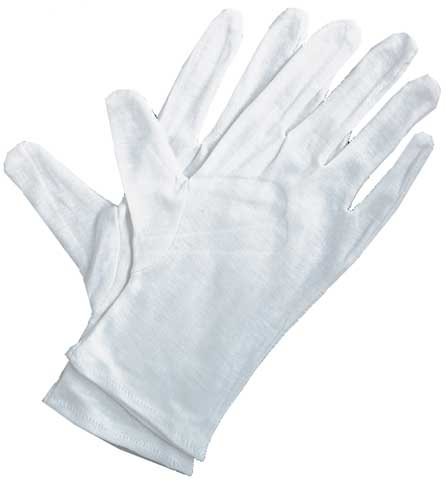 Soft White Cotton Gloves
