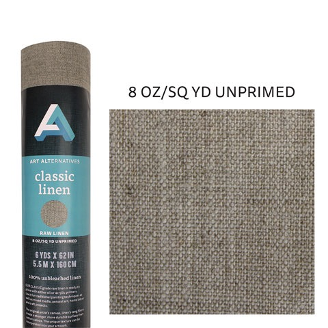 Unprimed 8 oz. Linen Canvas Rolls