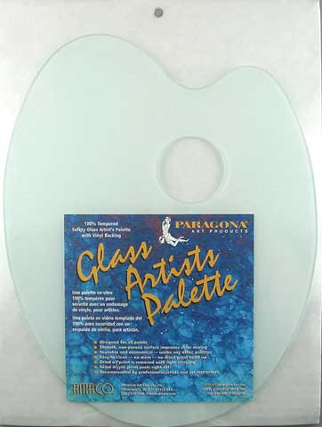 Classic Oval Safety Glass Palette