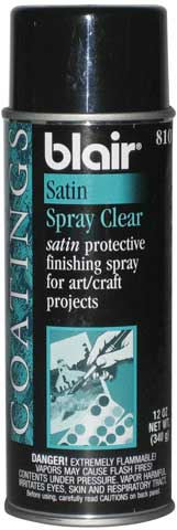 Satin Acrylic Spray Glaze