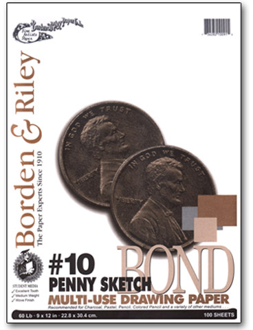 #10 Penny Sketch Drawing Paper