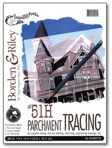 #51H Monroe Heavyweight Parchment Tracing Paper Pads