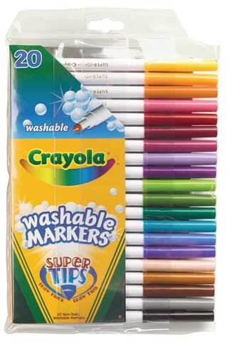 washable super tip markers by crayola raw materials art supplies
