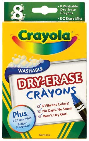 Washable Dry-Erase Crayon Sets