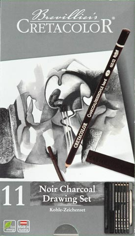 Noir Charcoal Drawing Set