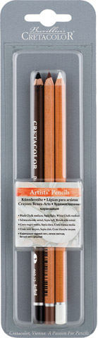 Artists' Pencils 3-Piece Sets