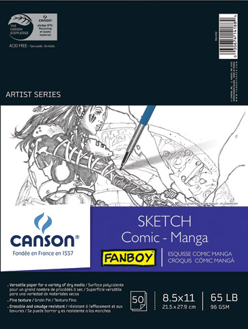 Fanboy Comic and Manga Sketch Pad & Sheets