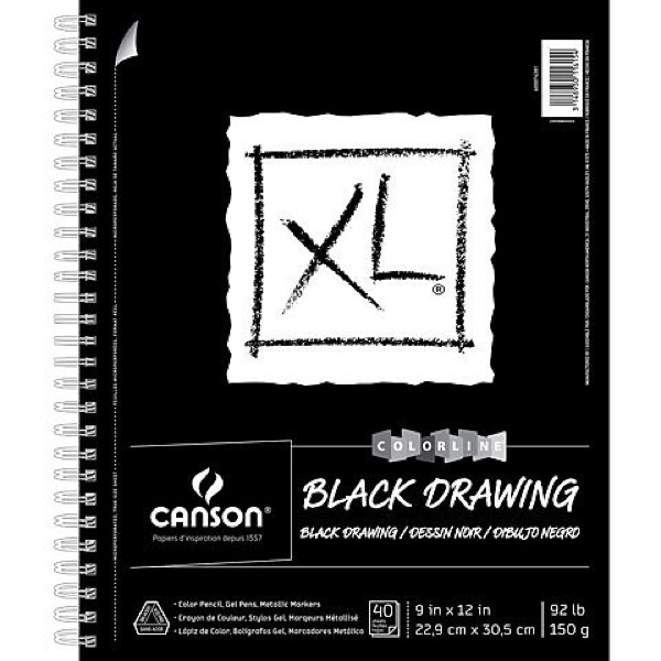 XL Black Drawing Pads