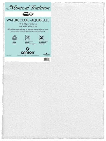 Montval Watercolor Paper Sheets