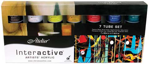Atelier Interactive Artists' Acrylic - 7-Color Set
