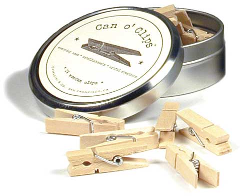 Can O' Clips Clothespins