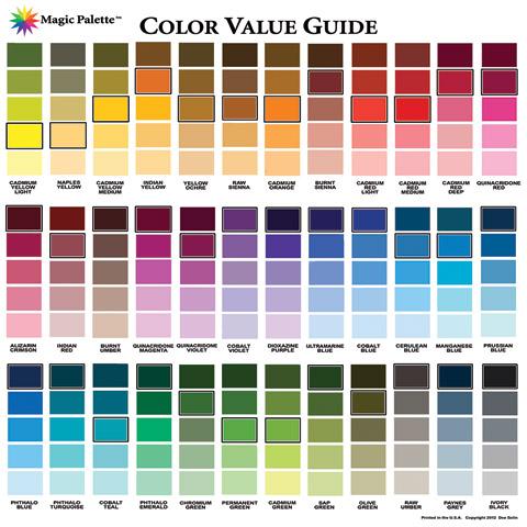 Magic Palette Artist S Color Value Guide By Color Wheel Co