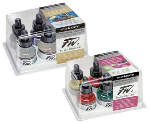 FW Acrylic Artists Ink Sets