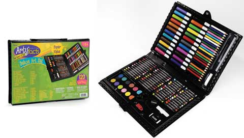 ArtyFacts 120-Piece Deluxe Art Set