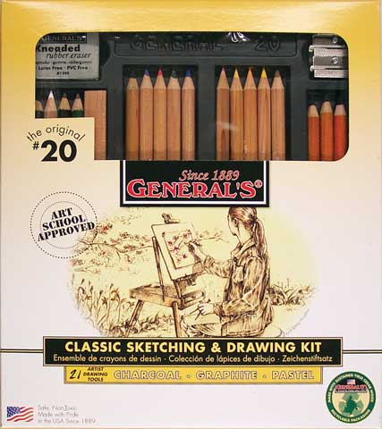 Classic Sketching & Drawing Kit No. 20