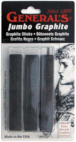 Jumbo Compressed Graphite Stick Set