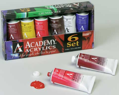 Academy Acrylics 6-Color Set