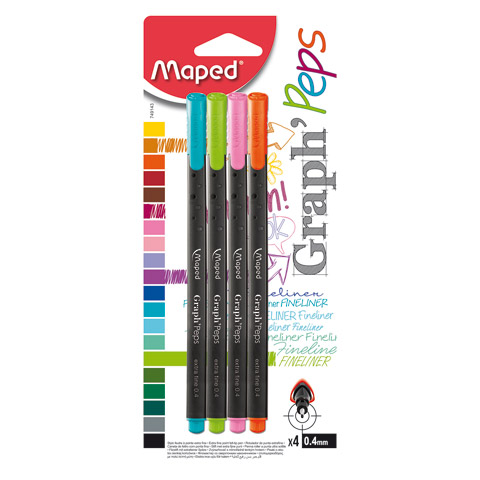 Graph'Peps Felt Tip Fineliner Pen Sets