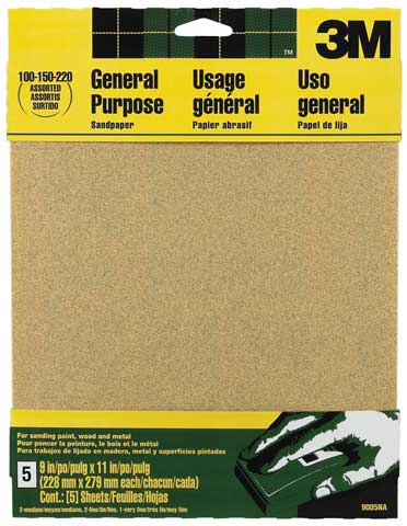All-Purpose Assorted Sandpaper