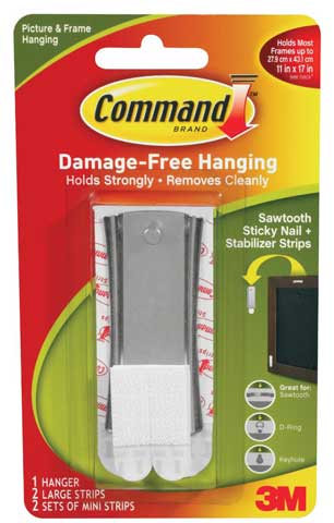 Command Sawtooth Sticky Nail Hanger