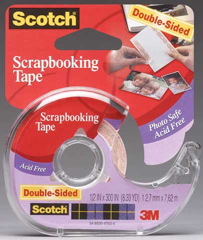 #002 Scotch Photo & Document Double-Sided Mounting Tape