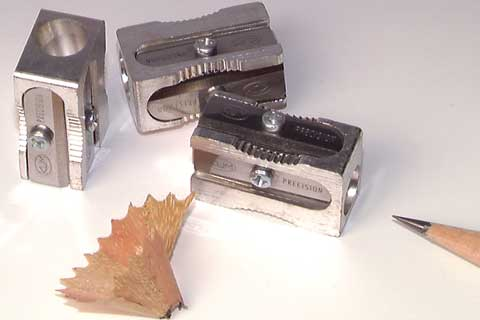 Magnesium-Alloy Metal Rectangular Sharpener with Spare Blades