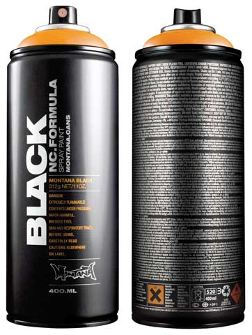 Black High-Pressure Cans Spray Color