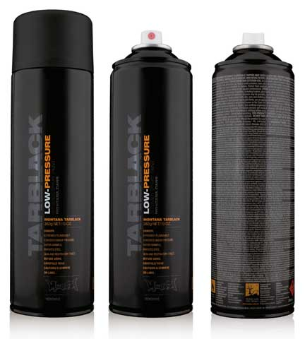 Black Low-Pressure Cans Spray Color
