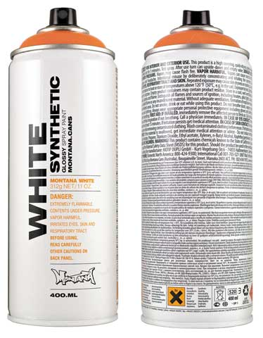 White Synthetic Spray Color