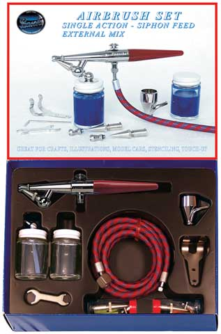Single Action H Airbrush Set