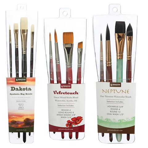 Professional 4-Brush Sets
