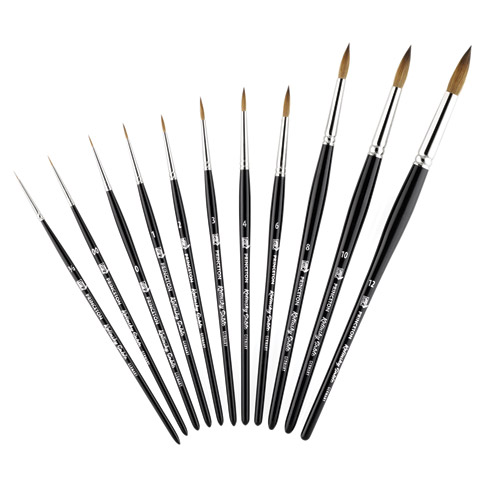 Kolinsky Sable Short Handle Brushes