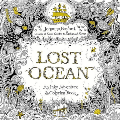 Lost Ocean: An Inky Adventure and Coloring Book