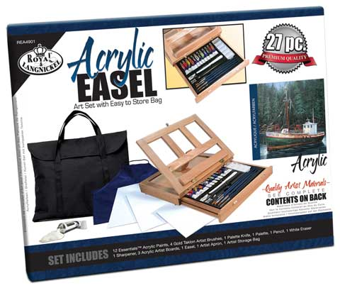 Acrylic Easel Set with Storage Bag