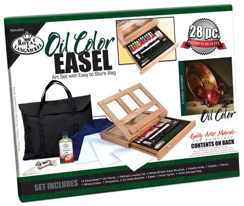 Oil Color Easel Set with Storage Bag