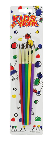 Kids at Work 5-Brush Set