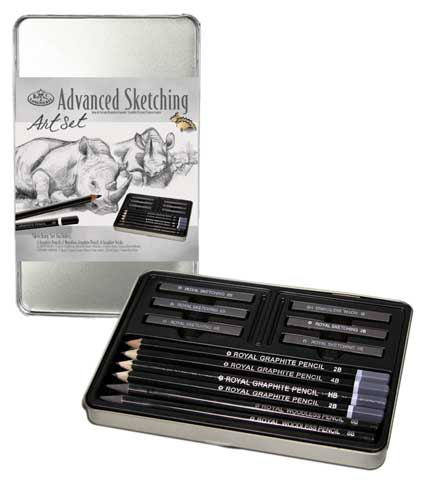 Graphite Sketching Small Tin Art Set