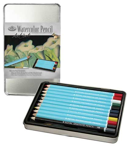 Watercolor Pencil Small Tin Art Set