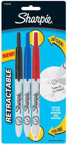 Sharpie Ultra-Fine Retractable Markers