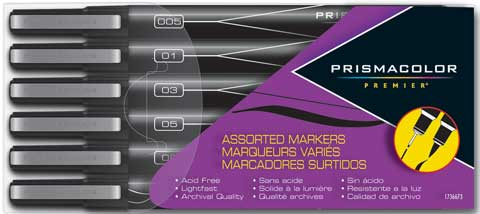 Premier Brush, Chisel & Fine Line Tip Assortment Marker Sets