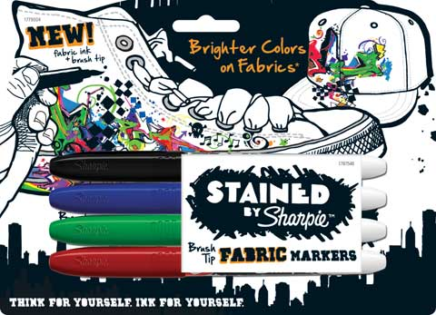 Stained by Sharpie Brush Tip Fabric Marker Sets