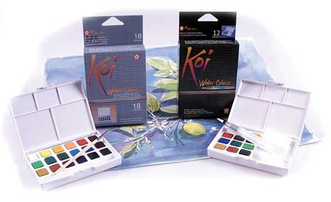 Koi Watercolors Pocket Field Sketch Boxes