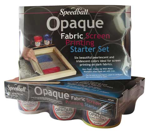 Opaque Fabric Screen Printing Ink Starter Set